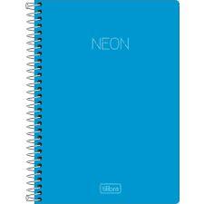Caderno Esp Cp 1/4 80f Neon Azul - Tilibra