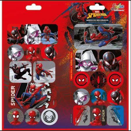 Adesivo Decorado Duplo Spiderman - Tilibra