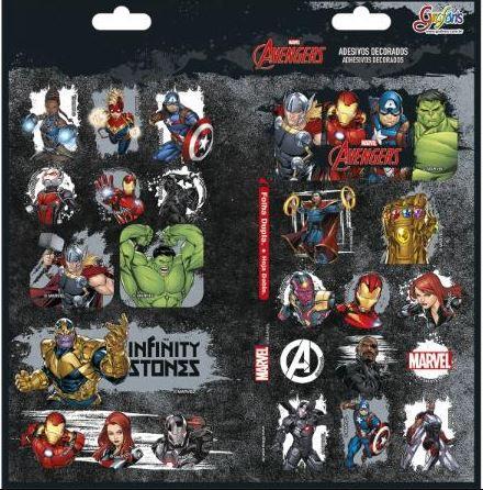 Adesivo Decorado Duplo Avengers Asb - Tilibra