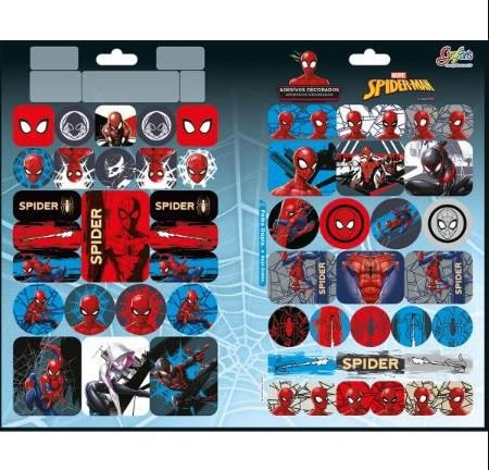 Adesivo Decorado Duplo Metal Spiderman - Tilibra