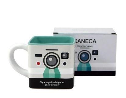 Caneca 300ml Cubo Camera - Zona