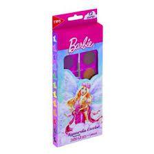 Aquarela Barbie C/12 Cores - Tris