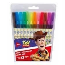 Caneta Hidrocor C/12 Toy Story - Tris