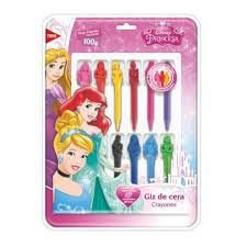 Giz De Cera 3d Princesas C/ 12 Cores - Tris