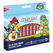 Giz Cera Jumbo Angry Birds 12 Cores - Tris