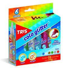 Cola Glitter C/6 Cores Sortidas - Tris