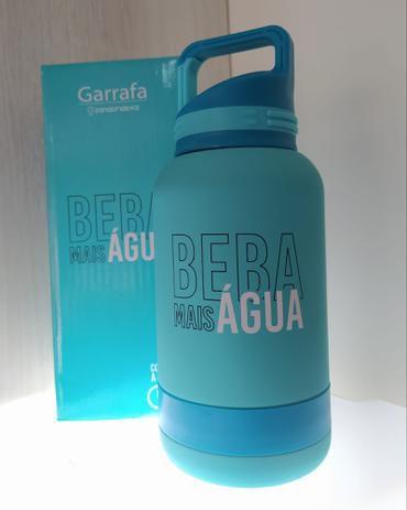 Garrafa 500ml Inox C/mosquetao Beba Agua - Zona