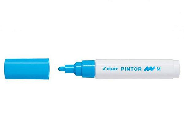 Marcador Medio 1,4mm Pintor Azul Claro - Pilot