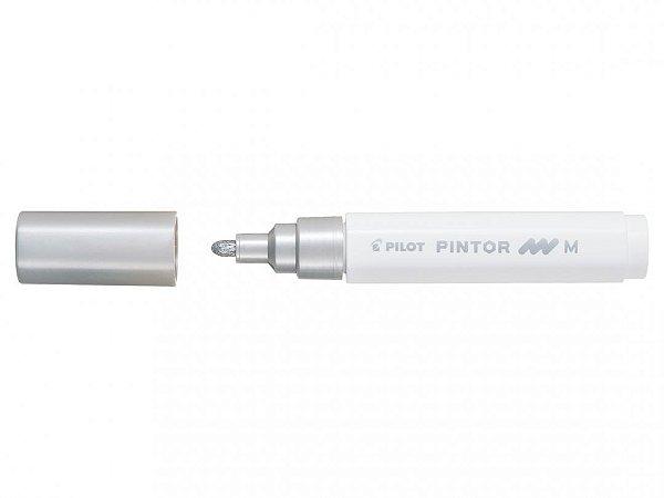 Marcador Medio 1,4mm Pintor Prata - Pilot