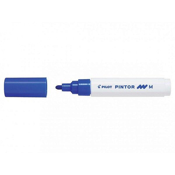 Marcador Medio 1,4mm Pintor Azul - Pilot