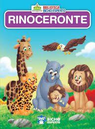 Mini Biblioteca Animais - Rinoceronte - Bicho Espe