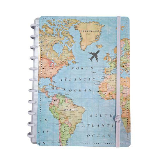 Caderno Inteligente Grande Mapa Mundi - Caderno