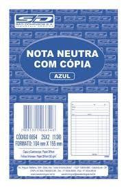 Bloco Nota Neutra 1/36 104x146cm 25f C/copia - Sd