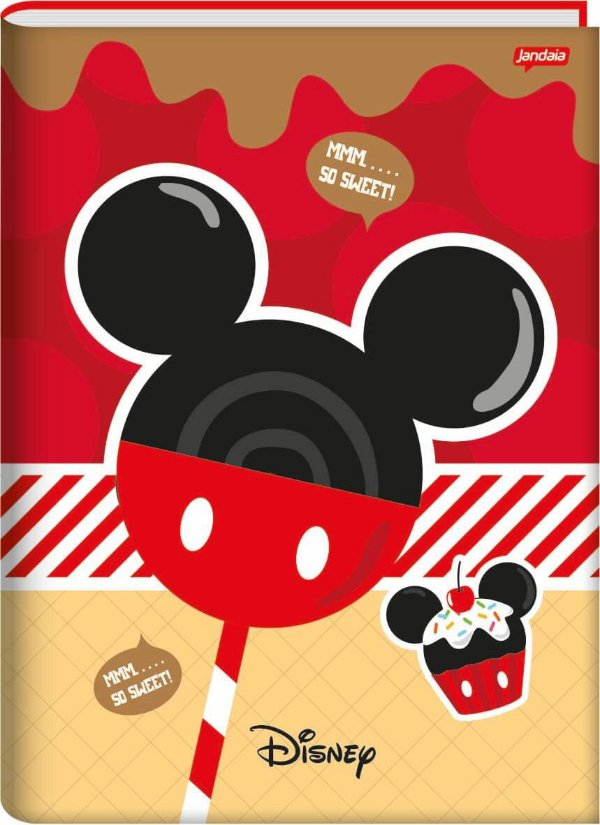 Caderno Broc Cd 1/4 96f Disney Sweetness - Jandaia