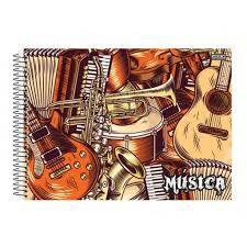 Caderno Esp 1/4 40f Dplex Musica - Sd