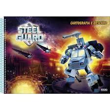 Caderno Cartografia 60fls Steel Guard - Sd