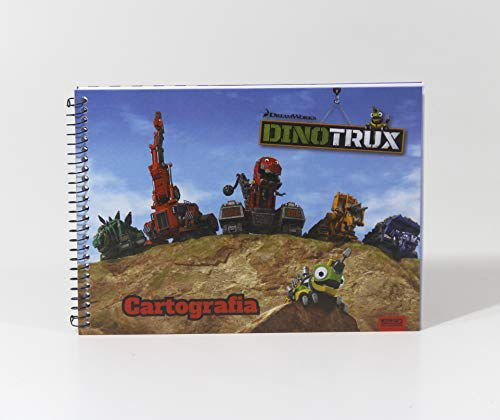 Caderno Esp Cartografia Cd 60f Dinotrux - Sd