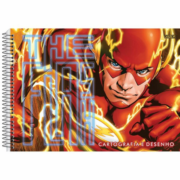 Caderno Esp Cartografia Cd 60f The Flash - Sd