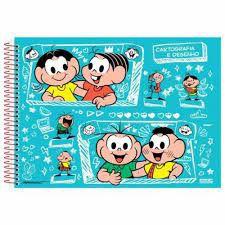 Caderno Esp Cartografia Cd 60f Monica Classic - Sd