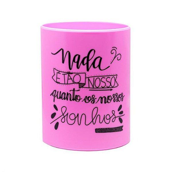 Porta Canetas Up Pastel Rosa - Newpen