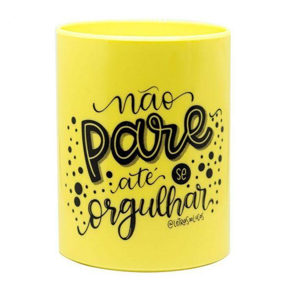 Porta Canetas Up Pastel Amarelo - Newpen
