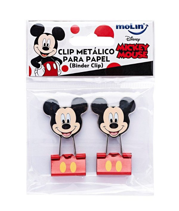 Binder Clips C/2 Mickey Mouse - Molin
