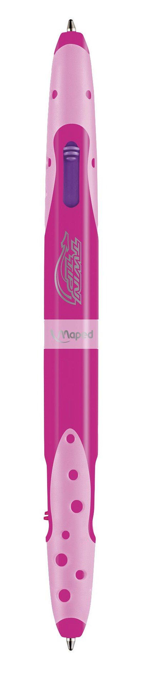 Caneta Twin Tip Pocket 4 Cores Corpo Rosa - Maped