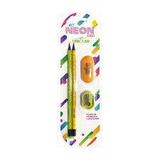 Lapis Grafite Hb C/2 + Apont + Borr Neon Eco - Leo