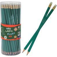 Lapis Grafite Hb C/borracha C/72 Sext Verde - Leo