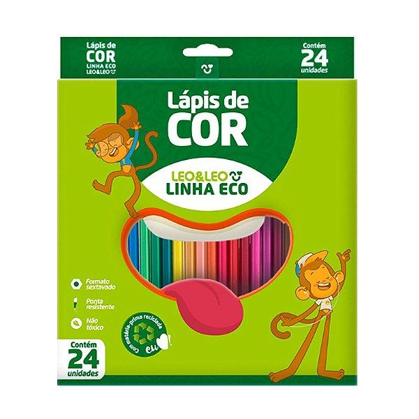 Lapis De Cor C/24 Sextavado Ecologico - Leo E Leo