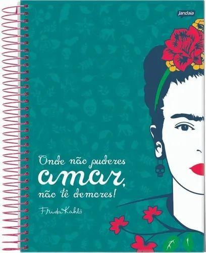 Caderno Esp Cd 1/4 96f Frida Kahlo - Jandaia