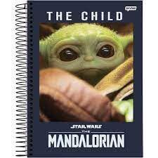 Caderno Esp Univ Cd 1m 80f Star Wars Yoda- Jandaia