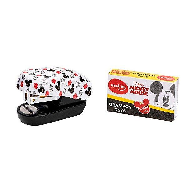 Grampeador Mini C/grampo Blister Mickey - Molin