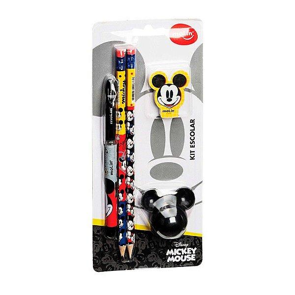 Kit Escolar Blister C/5 Mickey - Molin