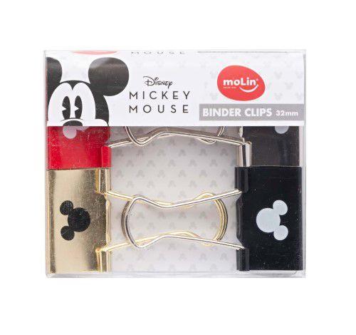 Binder Clips 32mm C/4 Mickey - Molin