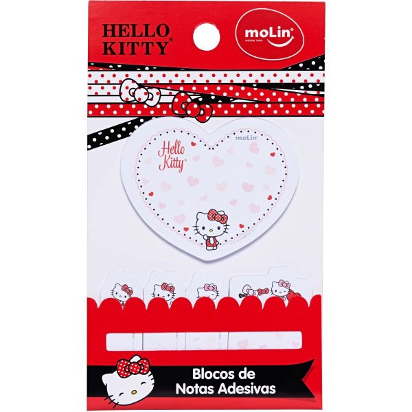 Bloco Notas C/5 150f Hello Kitty - Molin
