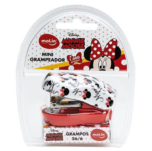 Grampeador Mini C/grampo Blister Minnie - Molin