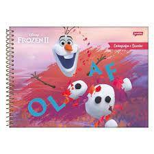 Caderno Esp Cartografia Cd 96f Frozen - Jandaia