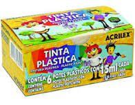 Tinta 15ml C/6 Plastica - Acrilex