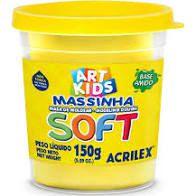 Massa De Modelar Soft 150g N/102 Amarelo - Acrilex