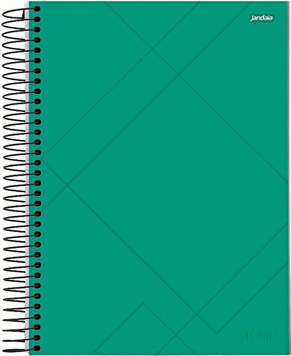 Caderno Esp Univ Cd 10m 200f Stomp Verde - Jandaia
