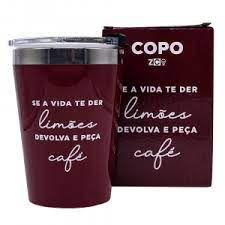 Copo Viagem Snap 300ml Peca Cafe  - Zona
