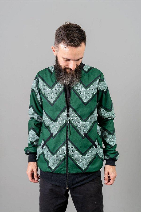 Jaqueta Moletom - triângulo verde