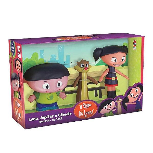 O Show da Luna Kit com 3 Bonecos - Luna Júpiter e Cláudio