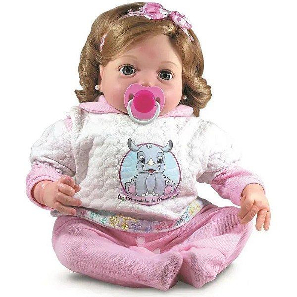 Boneca Realista Yasmin 46cm tem Cheirinho de Bebê Reborn