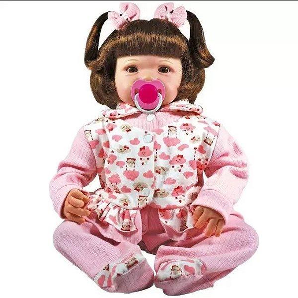 Boneca Realista Eloise 45cm tem Cheirinho de Bebê Reborn