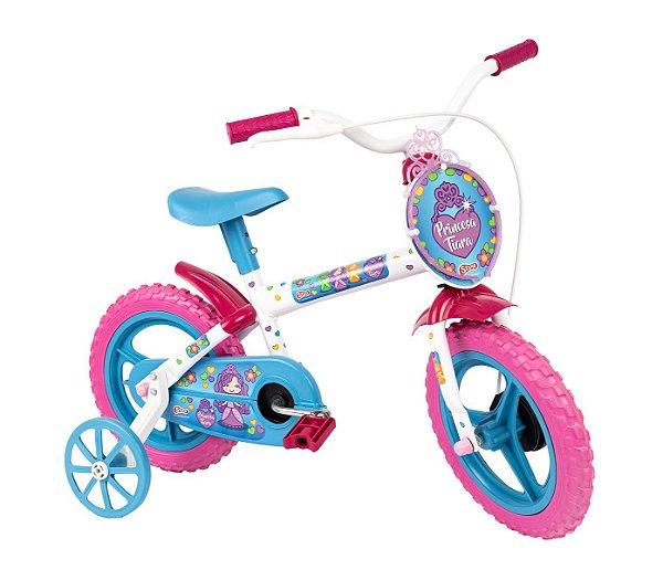 Bicicleta Infantil Aro 12 Princesa Tiara Menina 3 a 5 Anos