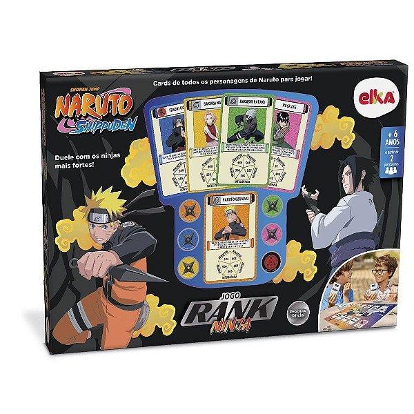 Jogo Rank Ninja Naruto Shippuden - Jogo de Tabuleiro Elka
