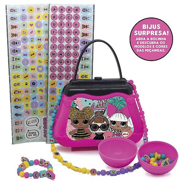 Bolsinha Fashion Biju LoL Surprise Elka - Kit com + de 130 peças