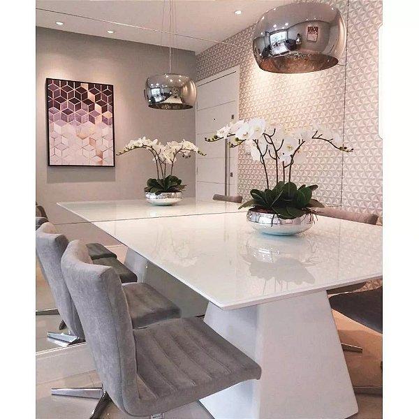 Lustre Pendente Sala Cristal K9 Attractive 28 Cm Cromado